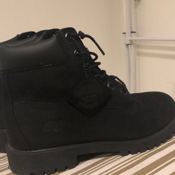 timberland black construction boots